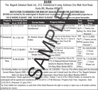 Bank public notice ad sample