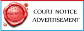 Check Online Legal Court Notice Advertisement Booking in India's Leading English/Hindi newspapers,View Legal Court Notice Ads sample here