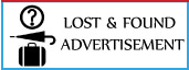 view Lost and found advertisement booking in india's leading english , hindi newspapers,view lost and found ads sample here