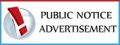 Check Online all types Public Notice  Advertisement Booking in India's Leading English/Hindi newspapers,View Public Notice Ads sample here