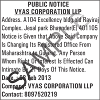 Office shifted public notice ads