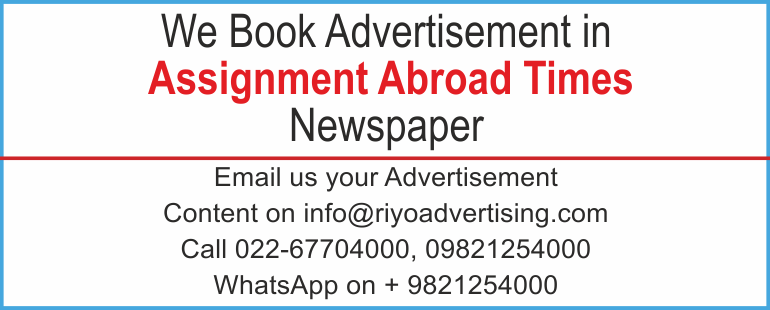 Newspaper advertisement sample for Assignment abroad times