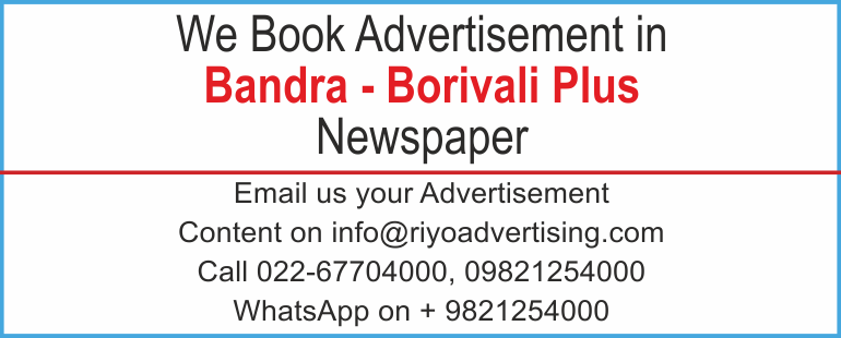 Newspaper advertisement sample for  Bandra Borivali Plus