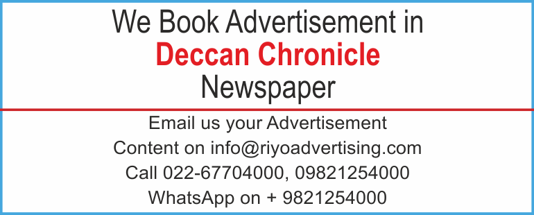 Newspaper advertisement sample for  Deccan Chronicle