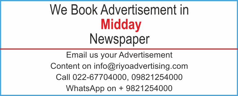 Newspaper advertisement sample for Mid Day