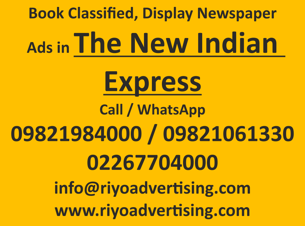 The New Indian Express newspaper advertisement online